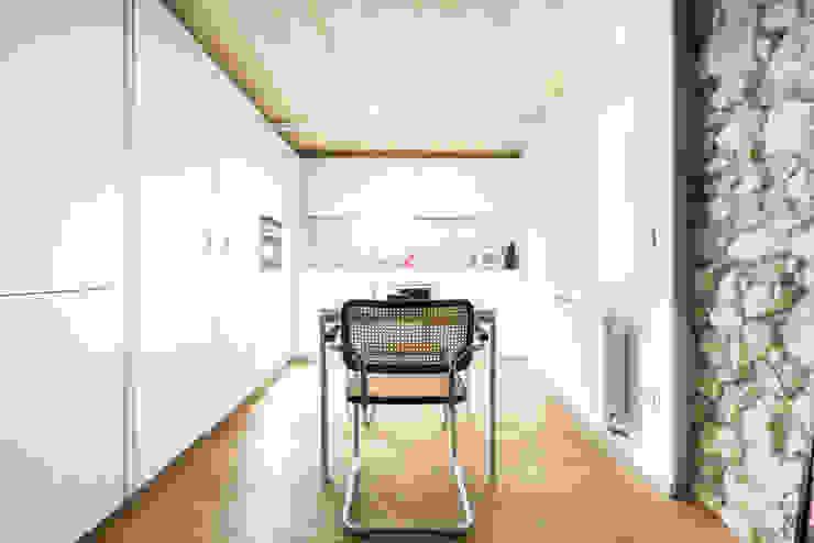 cucina bianca ASSONOMETRIA Cucina piccola Legno Bianco