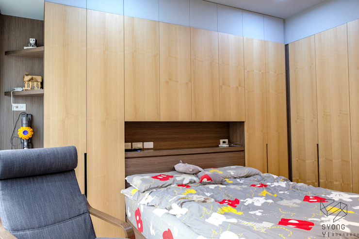 Scandinavian style bedroom by 雄邑室內設計裝修 Scandinavian