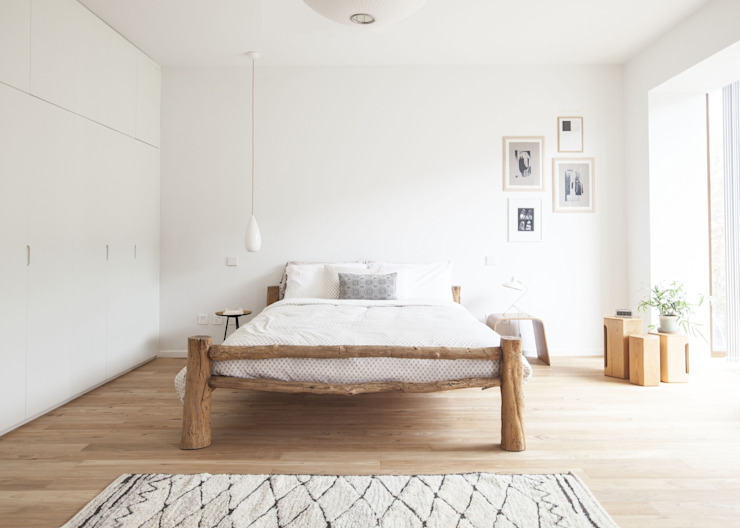 Phòng ngủ phong cách Bắc Âu bởi A&B Curated Bắc Âu