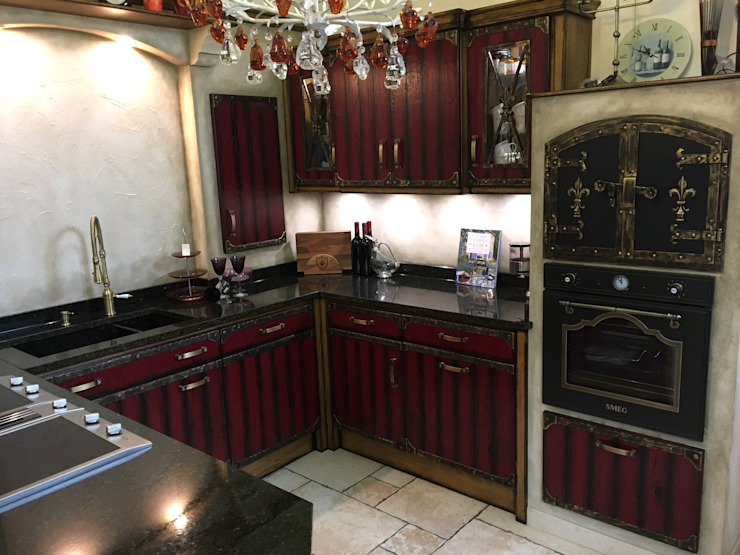 Villa Medici - Landhauskuechen aus Aschheim Cocinas integrales Madera Rojo
