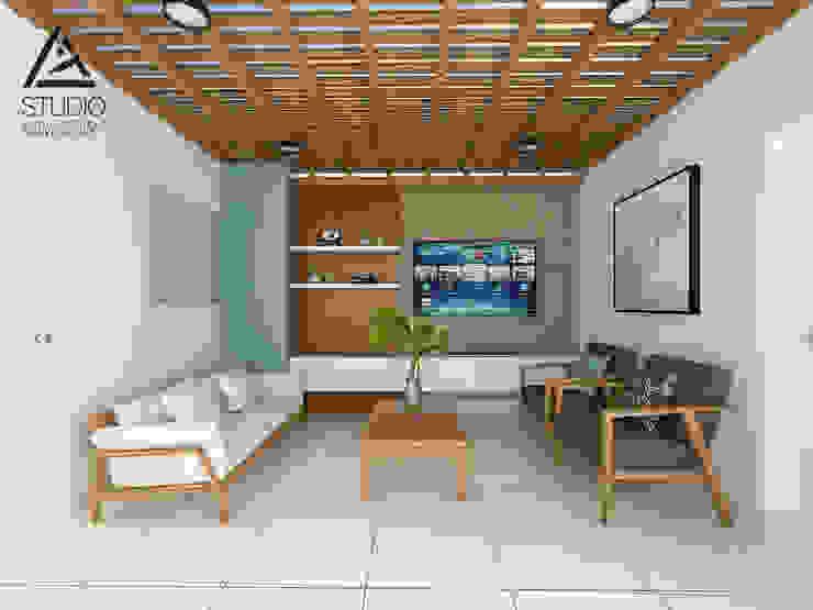 Sala de Estar y Tv Balcones y terrazas modernos de G2studio Moderno Concreto