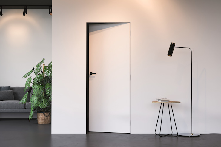 Porta Oculta Serie Hide InPortas Portas Branco