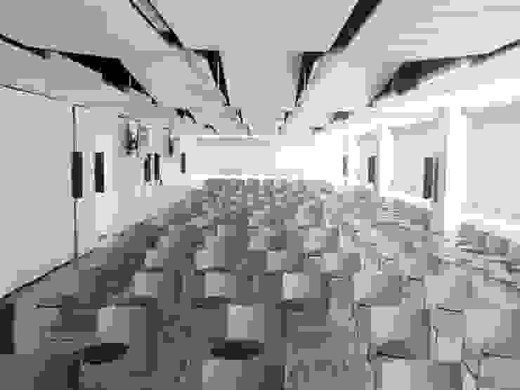 Vista interior de la Sala multiusos de difusión I+D+i Salas multimedia de estilo industrial de OCTANS AECO Industrial
