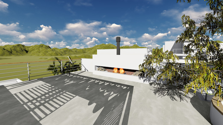 Igor Cunha Arquitetura ระเบียง, นอกชาน