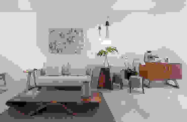 arquiteta aclaene de mello Living room Sandstone White