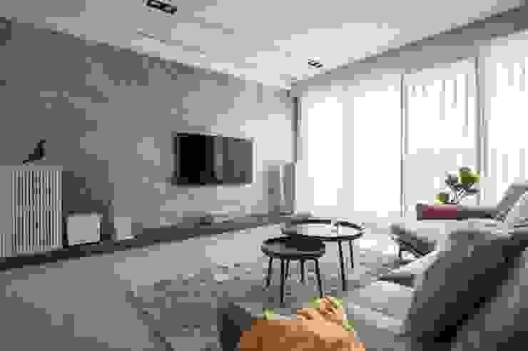 天然石材電視牆 根據 極簡室內設計 Simple Design Studio 現代風