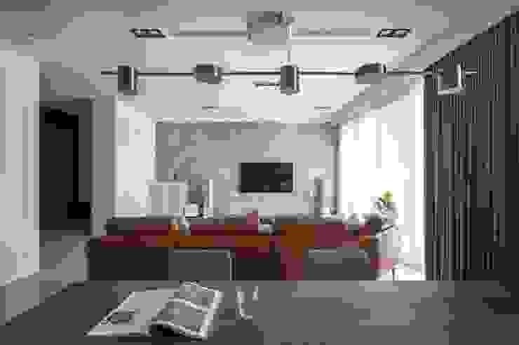 吊燈 现代客厅設計點子、靈感 & 圖片 根據 極簡室內設計 Simple Design Studio 現代風