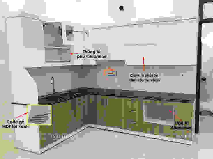 Cấu tạo tủ bếp gỗ công nghiệp Nội thất Hpro KitchenCabinets & shelves Gỗ Multicolored