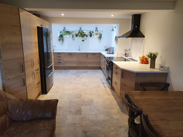 Rustic Urban Kitchen Design The Rigid Kitchen Company Inbouwkeukens Massief hout Bruin