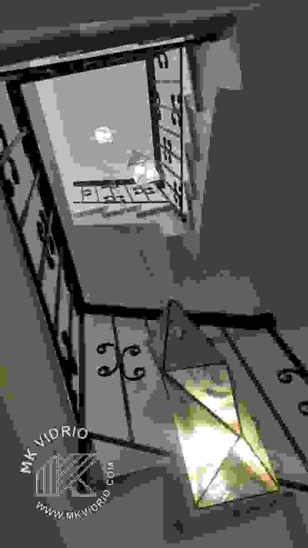 Juego de lámparas vestíbulo de escalera MKVidrio Escaleras Vidrio Transparente