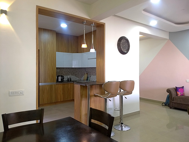 3BHK Apartment Interior TAPSHAM ARCHITECTS Minimalist kitchen