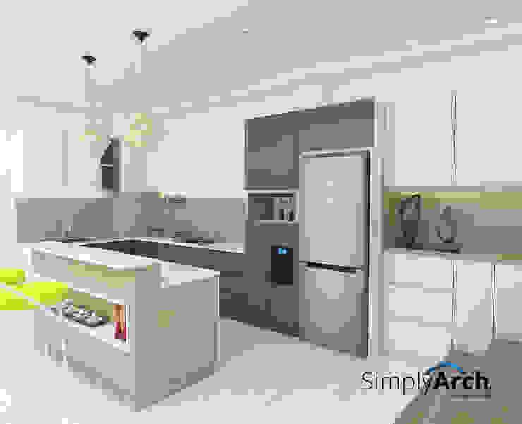 Kitchen set and island pantry Oleh Simply Arch. Minimalis Kayu Lapis