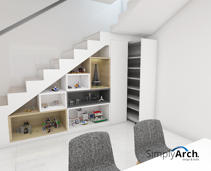 Display Cabinet and Sliding Shoes Storage Oleh Simply Arch. Minimalis