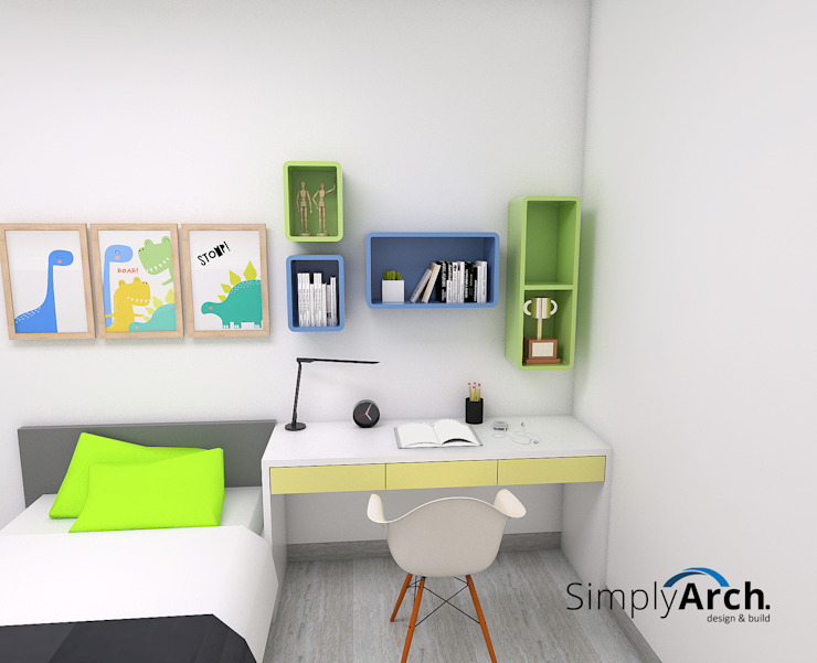 Children's Bedroom ( Bed and Study Table ) Oleh Simply Arch. Minimalis