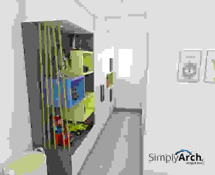 Children's bedroom Display Cabinet and Wardrobe Kamar Tidur Minimalis Oleh Simply Arch. Minimalis