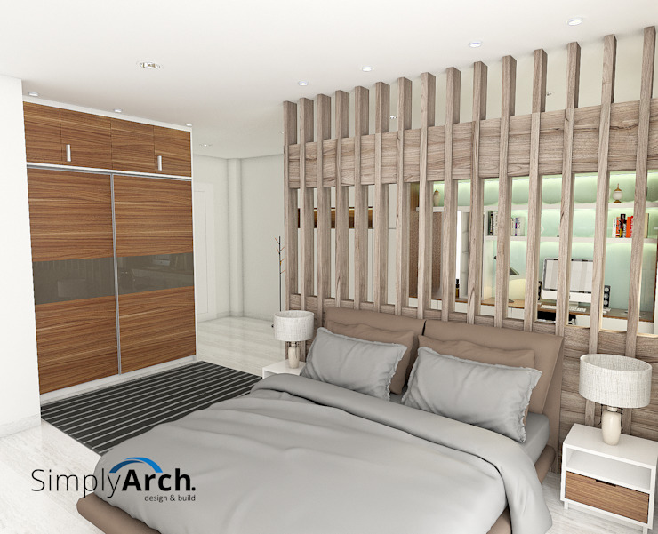 Master bedroom Kamar Tidur Minimalis Oleh Simply Arch. Minimalis