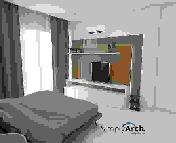 Master Bedroom's TV Console Kamar Tidur Minimalis Oleh Simply Arch. Minimalis