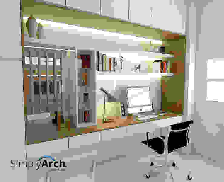 Master Bedroom's Make Up + Working Table Kamar Tidur Minimalis Oleh Simply Arch. Minimalis