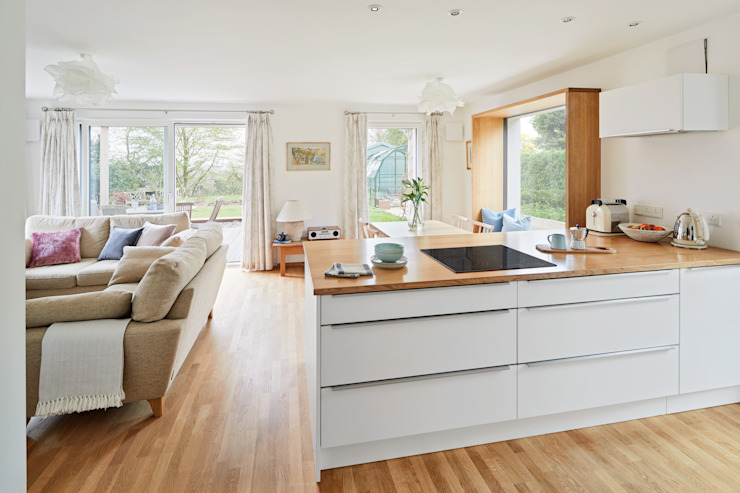 House Fleming: a Space for Living Baufritz (UK) Ltd. Small kitchens