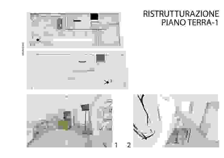 Ristrutturazione del negozio al piano terra e piano primo di studiolineacurvarchitetti