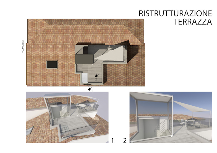 Ristrutturazione della terrazza di studiolineacurvarchitetti