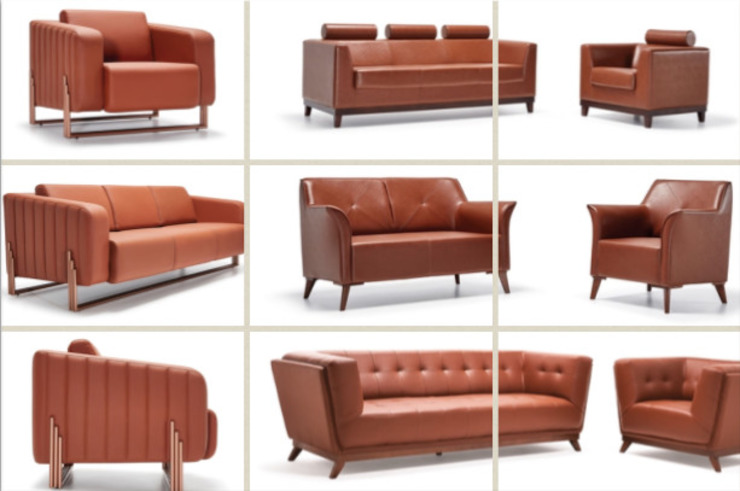 Sofas and Armchairs SG International Trade Locaux commerciaux & Magasins Cuir Rouge
