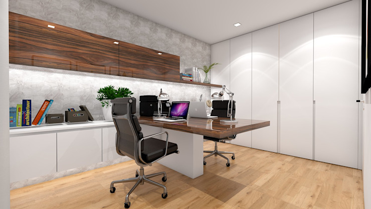 Escritório Inarte Interiores Escritórios modernos
