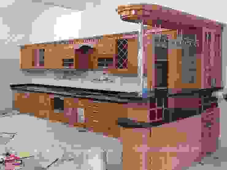 Hình ảnh thực tế bộ tủ bếp nhà anh Văn Nội thất Hpro KitchenCabinets & shelves Gỗ Multicolored