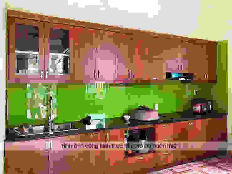 Ảnh thực tế tủ bếp nhà chú Ước Nội thất Hpro KitchenCabinets & shelves Gỗ Multicolored