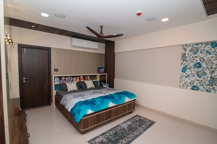 Camera da letto in stile asiatico di ARK Architects & Interior Designers Asiatico