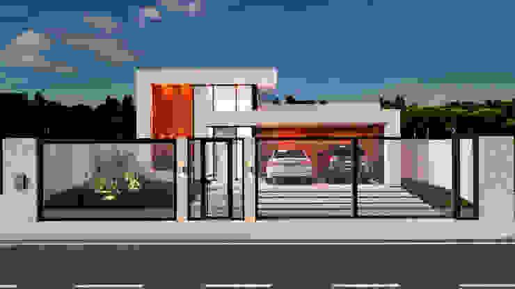 Fachada Frontal por Marcelle de Castro - arquitetura interiores Moderno