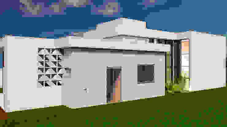 Fachada Lateral Esquerda por Marcelle de Castro - arquitetura interiores Moderno