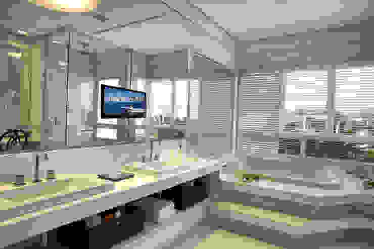 Bianka Mugnatto Design de Interiores Baños de estilo moderno Mármol Blanco