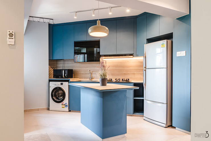 "Project 5i Resale Hdb ""Bright & Bluish Scandi"" Chapter 3 Interior Design Scandinavian style kitchen"