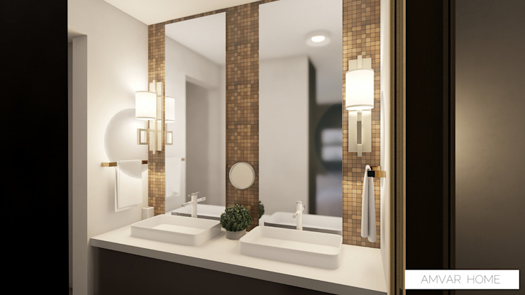 Modern Home Modern Bathroom by Amvar Home Modern