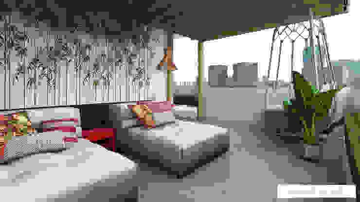 balcón estilo asiático by Amvar Home Asian