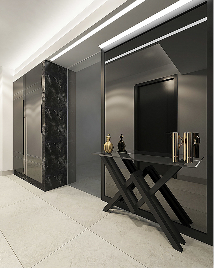 NUUN MİMARLIK Modern Corridor, Hallway and Staircase