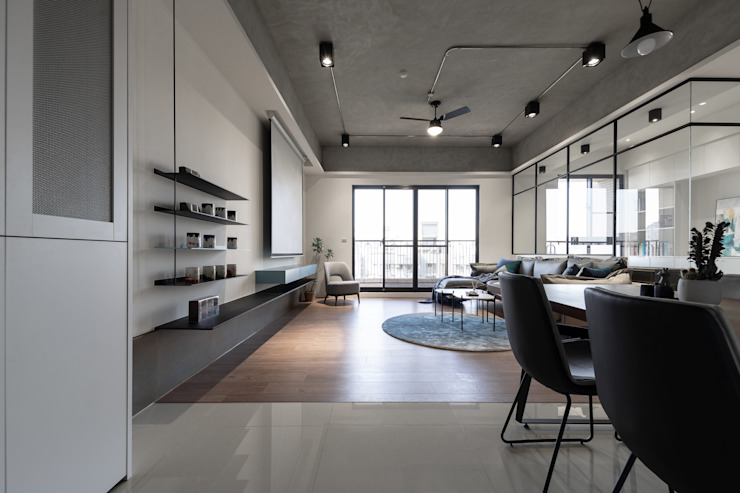 Dr. Wang案 | 玄關 有隅空間規劃所 Living room Concrete Grey