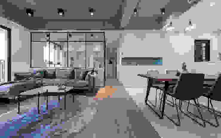 Dr. Wang案 | 公共空間 有隅空間規劃所 Living room Concrete Grey