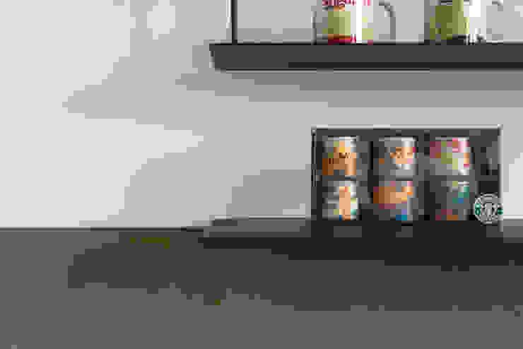 Dr. Wang案 | 電視牆鐵件展示層架 有隅空間規劃所 Walls Iron/Steel Black