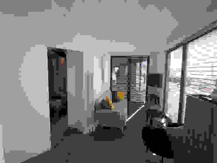 ibedi laboratorio di architettura Modern living room Concrete White