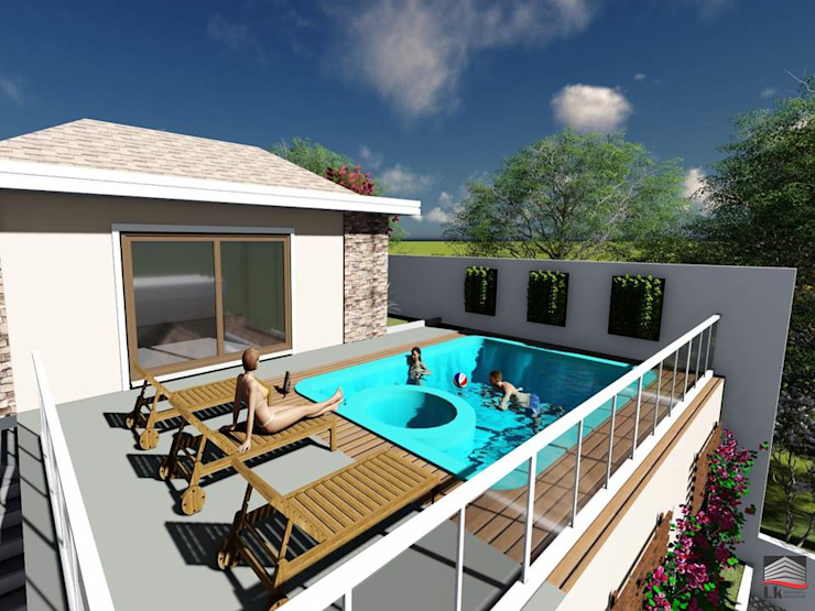 LK Engenharia e Arquitetura 家庭用プール