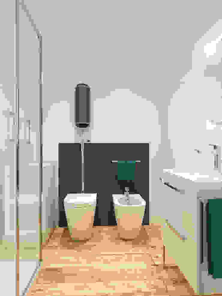 ibedi laboratorio di architettura Ванна кімната Залізо / сталь Білий