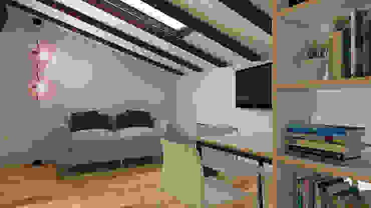 Soggiorno e pranzo Soggiorno moderno di ibedi laboratorio di architettura Moderno Legno Effetto legno