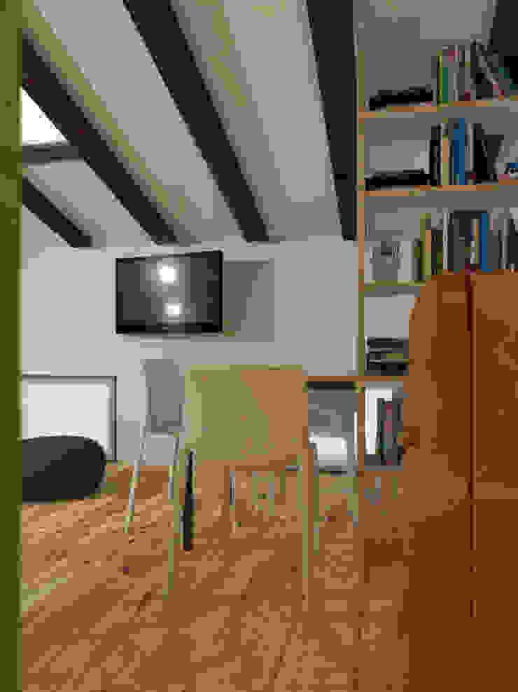 ibedi laboratorio di architettura Small kitchens Залізо / сталь Помаранчевий