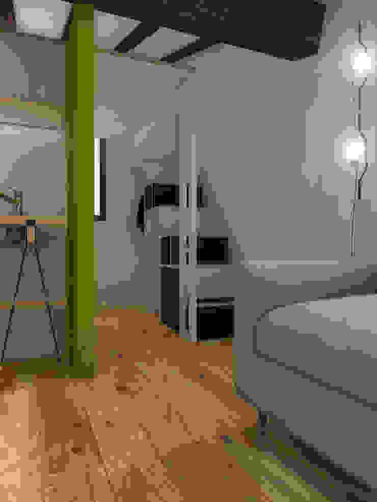 ibedi laboratorio di architettura Small bedroom Дерево Чорний