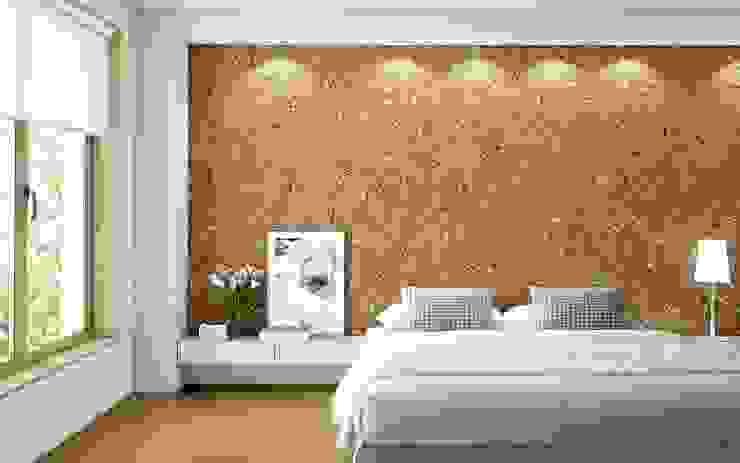 Rivestimento in sughero Karen Biosughero Camera da letto in stile mediterraneo Sughero Beige