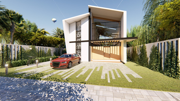JCA Arquitectura Будинки Бетон Білий