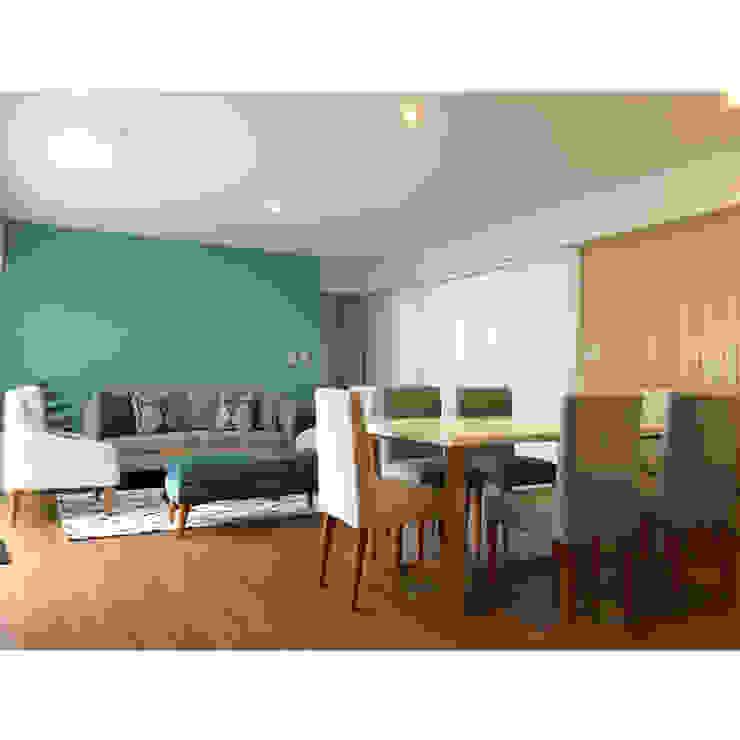 Proyecto Sala Comedor Entregado Salas modernas de NF Diseño de Interiores Moderno