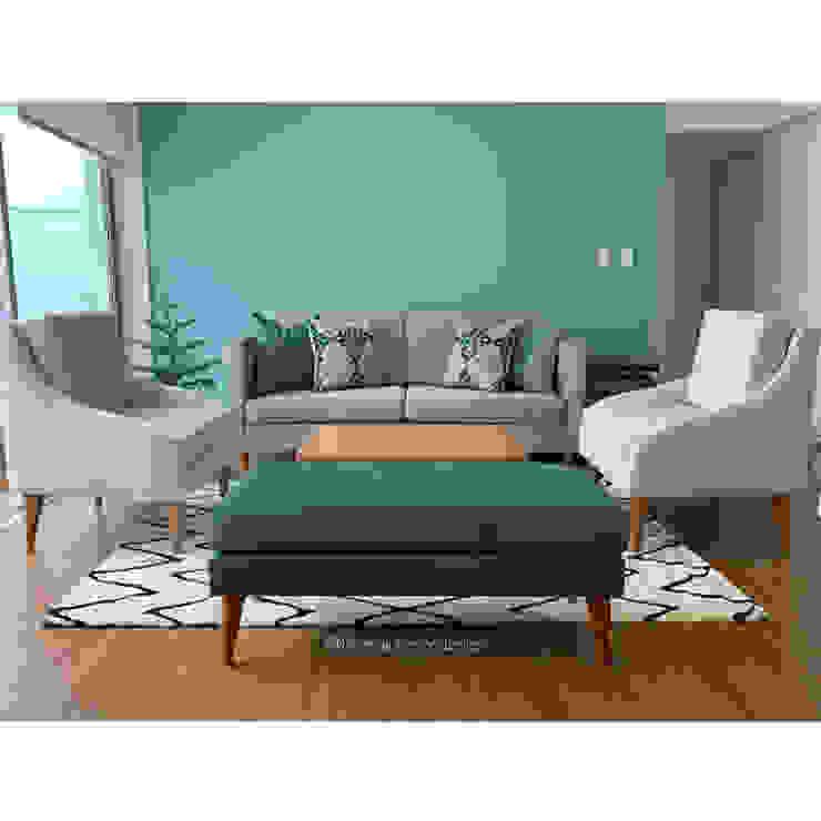 Proyecto Sala Comedor Entregado NF Diseño de Interiores Salas de estilo moderno